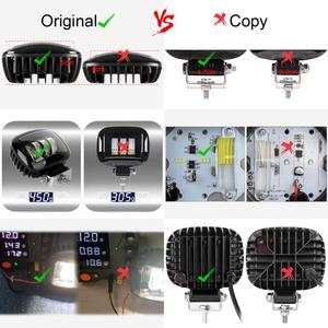 Image 5 - 6D Lens 5 Inch Round Square Led Work Light 12V For Car 4WD ATV SUV UTV Trucks 4x4 Offroad Motorcycle Auto Working Driving Lights