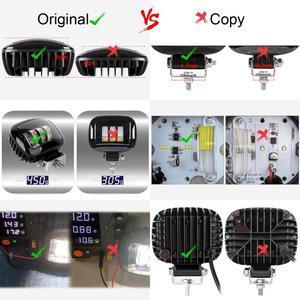 Image 5 - 6D Ống Kính 5 Inch Vuông Tròn Led Làm Việc 12V Cho Xe Ô Tô 4WD ATV Xe SUV Xe UTV Xe Tải 4X4 Offroad Xe Máy Tự Động Làm Việc Lái Xe Đèn