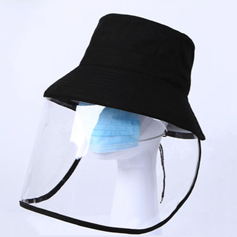 Factory Wholesale Sun Protection Bucket Hat With Cover Face Cap Fashion Bucket Hat For Women And Men Black Cotton Fisherman Hats
