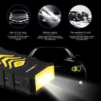 Multi functional Car Jump Starter Kit 14000mAh Dual USB Power Bank Emergency Battery Booster with LED Flashlight