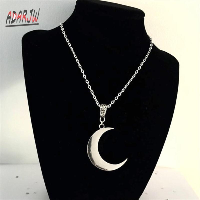 Black Moon Choker Necklace Velvet Crescent Moon Minimalist Pagan Wiccan Goth