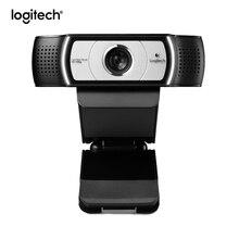 Logitech Cámara web C930C original para ordenador, videocámara inteligente de lente Zeiss HD, 1080P con funda protectora, USB y zoom digital 4x