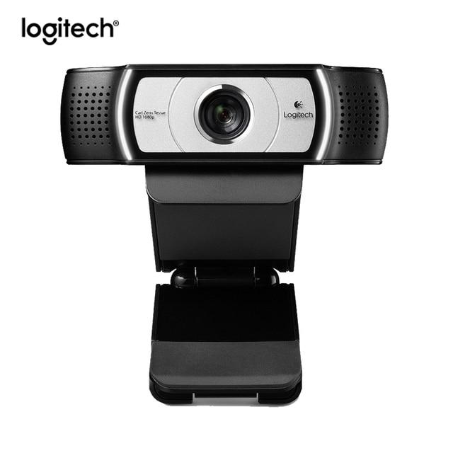 Logitech C930c HD 1080P เว็บแคมสำหรับคอมพิวเตอร์เลนส์ Zeiss USB กล้องวิดีโอ 4 ดิจิตอลซูม Web CAM