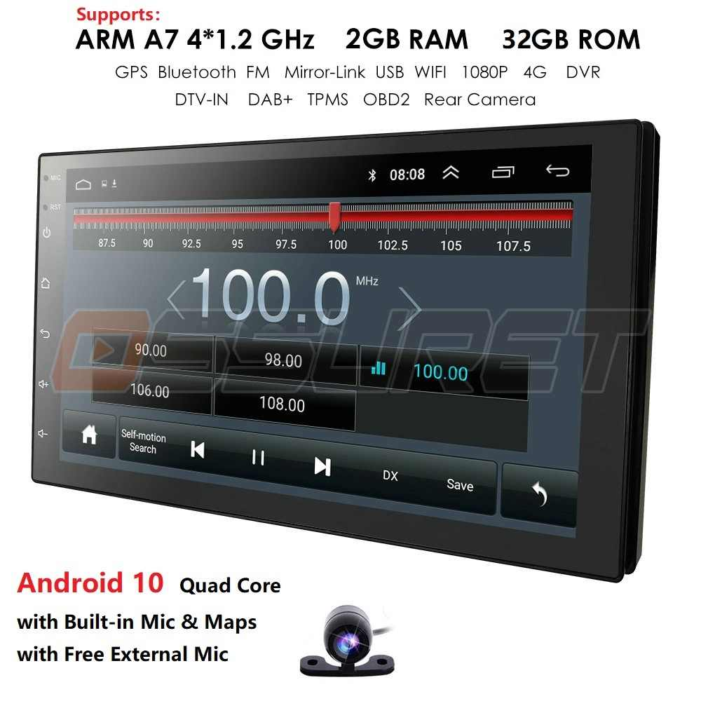 2din Mobil Radio Android Multimedia Player Autoradio 2 DIN 7 Inci Layar Sentuh GPS Bluetooth FM WIFI Auto Audio Player stereo OBD MIC