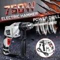 Doersupp 2 in1 Elektrische Hammer Bohrer 750W 220 240V Variable Speed Heavy Duty Auswirkungen Schraubendreher Einstellbar Hilfs griff-in Elektrische Hämmer aus Werkzeug bei