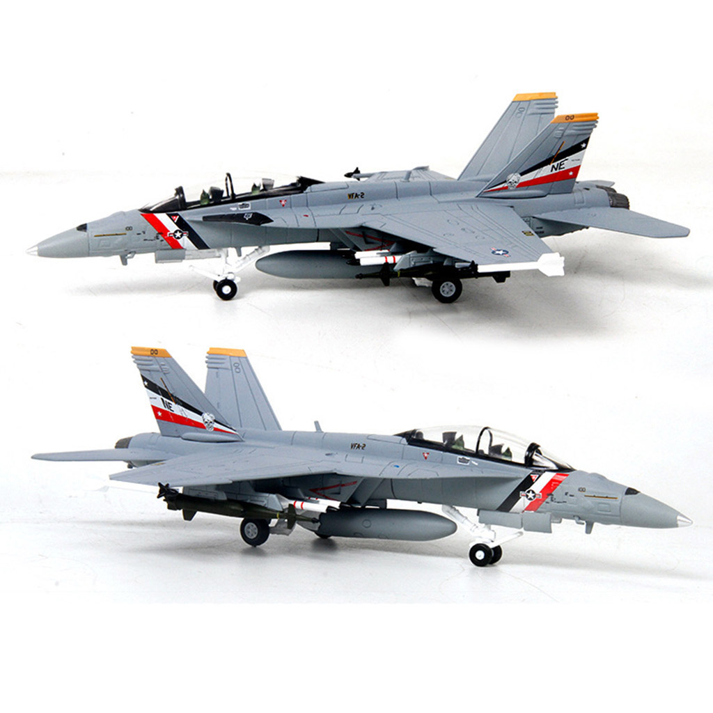 1/100 <font><b>F18</b></font> Aircraft Static Model Airplane With Display Stand Collection Gifts image