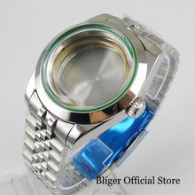 цена Top Quality Polished 40mm Watch Case + Jubilee Watch Band Fit ETA 2836 MIYOTA Movement онлайн в 2017 году