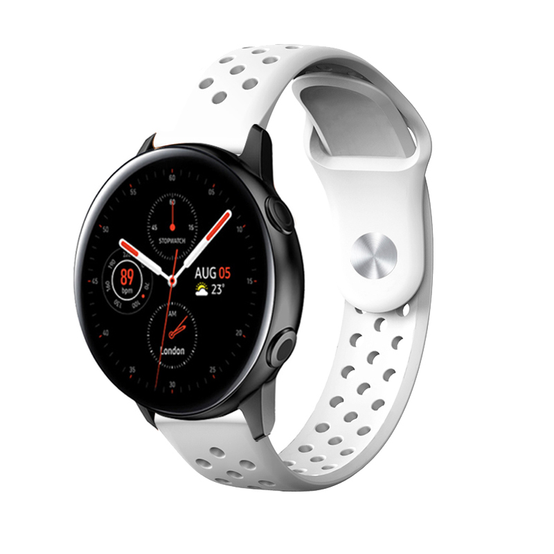 20mm Sport For Samsung Galaxy Watch Active 2 40/44mm Band Silicone Replacement Quick Release Wristband Bracelet For Smart Watch