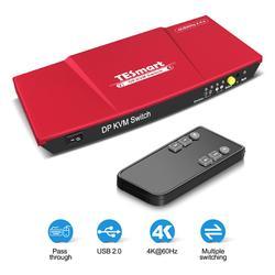 DP Kvm-switch 2 Ports USB 2x1 Display Port KVM Switcher 2 Ports DP KVM 2 In1Out mit 2 pcs 5ft KVM und DP Kabel Sharing 2 DP PCs