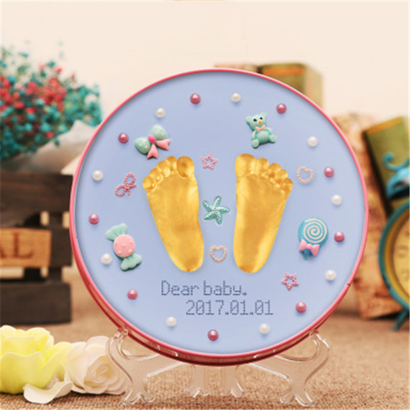 DIY Toys Toddlers Growth Record Gift Baby Souvenirs Hand & Footprint Makers Modeling Clay Air Dry Plasticine Slime Fuffy Kit Toy