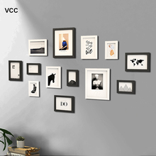 13Pcs/Set Wood Picture Frames For Wall Hanging With Plastic Glass ,Classic Photo Frame Wall Wooden Frame For Pictures Home Decor 100pcs paper photo frame set picture mats mini wooden clips string hanging cardboard picture frame for home room wall decor diy