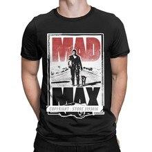 Vintage louco max tshirt fúria estrada filme guerreiro hardy ação sci fi condução carro impresso topos t camisa hombre