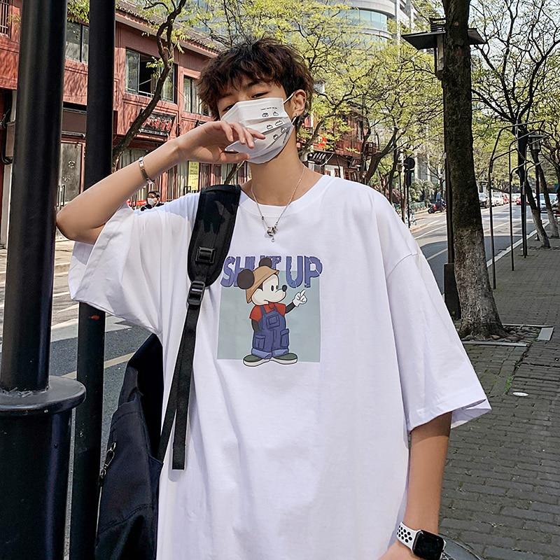 Купить bxyichen harajuku футболка из чистого хлопка с короткими рукавами