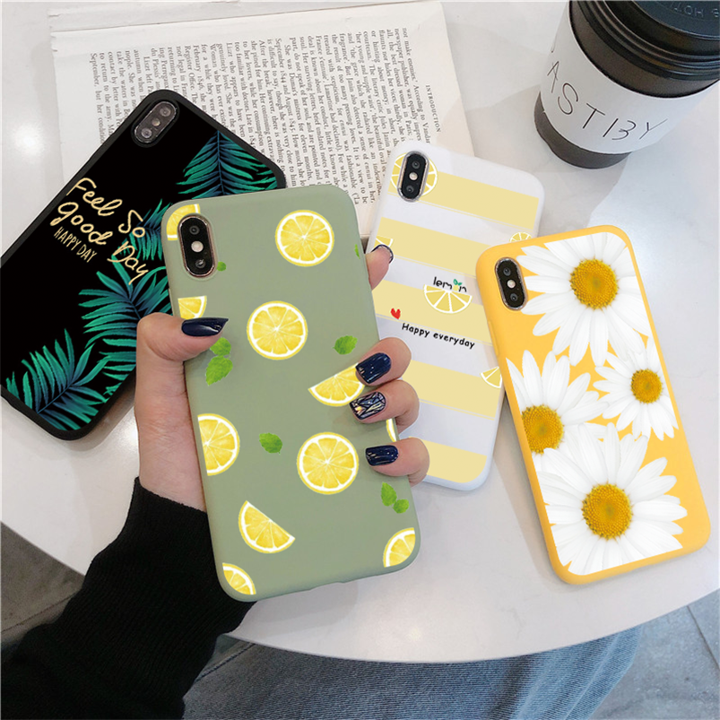 Fruit Bloem Zachte Telefoon Case Voor Iphone 7 Plus X Xr Xs Max 10 6 6S 7 8 Plus 5 5S Se 2020 Back Cover Voor Iphone 11 Pro Max Funda