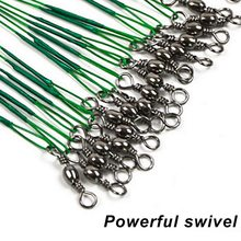 20шт% 2Flot Steel Wire +with Swivel -bite Fishing Line 15% 2F20% 2F30cm Fishing Accessory 3 Colors Olta Leadcore Leash 2021