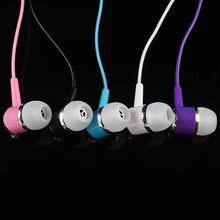 CHYI ucuz kulak kulaklık kablolu kulak kulaklık mikrofon olmadan gürültüsüz renkli şeker kulaklık kulaklıklar kulaklık çocuklar için