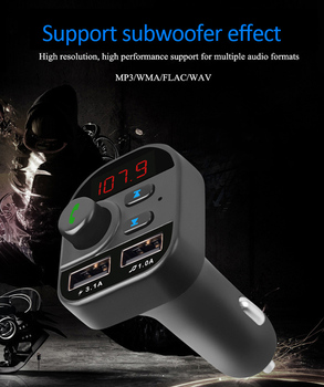 Digital FM Transmitter Car Handsfree Bluetooth Wireless Car MP3 Player Phone USB Charger 3.1A 5V Car Charger Adapter In Car image