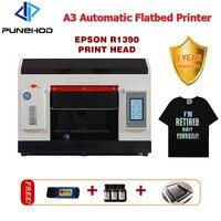 A3 tamanho uv flatbed impressora cabeça digital jato direto à máquina de impressão têxtil 6 cores cmyk + ww cartucho de tinta separável