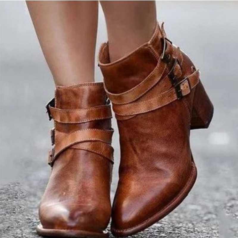 WENYUJH 2019 moda rahat kadın pompaları sıcak yarım çizmeler su geçirmez yüksek topuklu kar ayakkabıları Botas artı boyutu 35-43