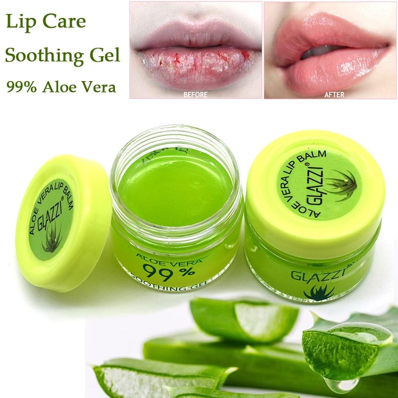 Алоэ Вера 99% Уход за губами сухость успокаивающий гель увлажняющий бальзам для губ маска для губ крем макияж База под макияж губ праймер|Губы|   | АлиЭкспресс