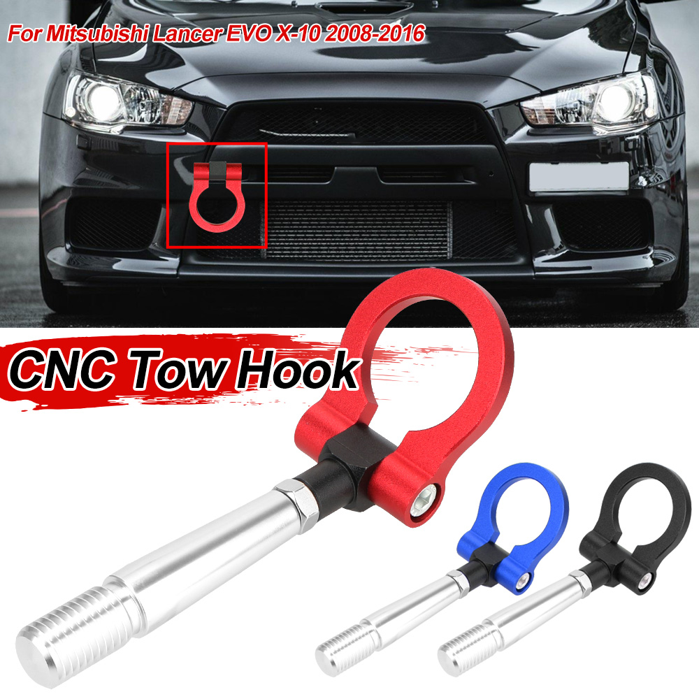 Car Auto Trailer Hooks Ring Eye Tow Towing Front Rear For Mitsubishi Lancer EVO X 10 2008-2016 Vehicle Towing Hook