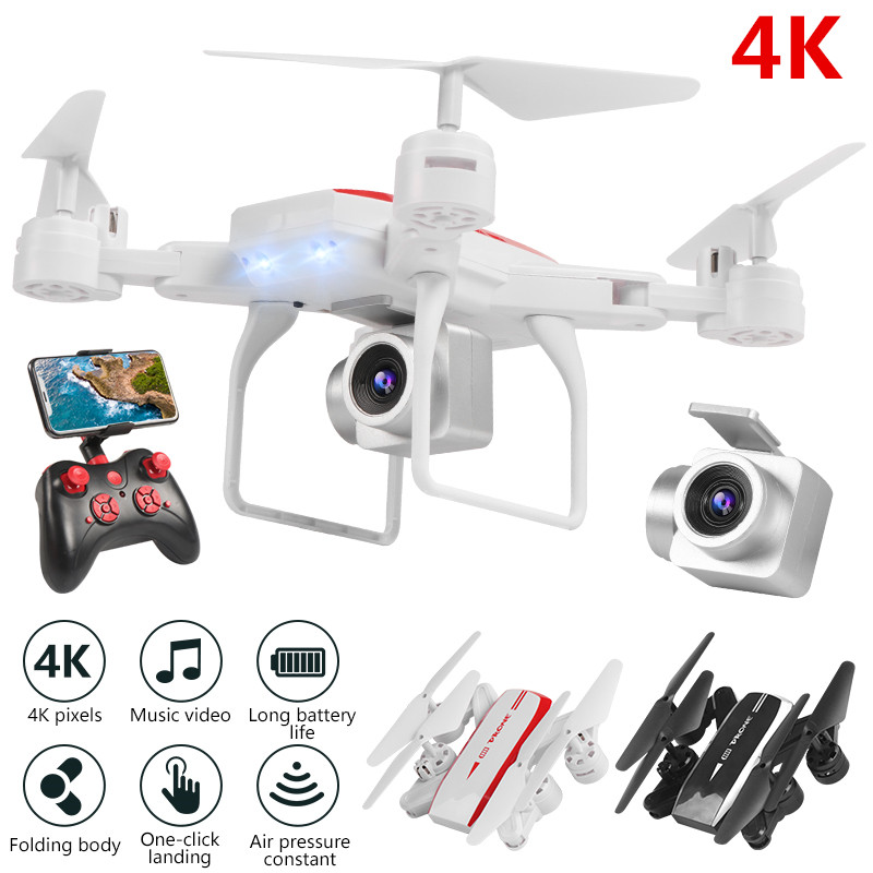 New Drone FPV RC Drone 4k Camera 1080 HD Aerial Video dron Quadcopter RC helicopter toys for kids Foldable Off-Point drones image