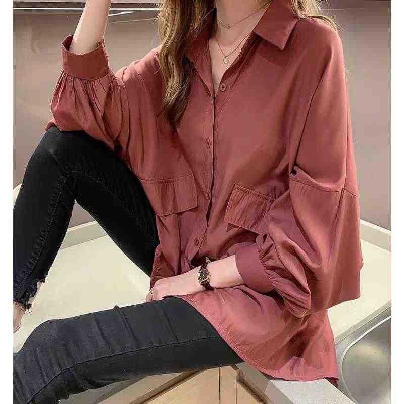 秋 2019 カジュアル韓国女性シャツプラスサイズ長袖シャツエレガントオフィスの女性白ブラウスストリートトップス