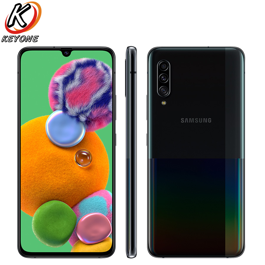 "New Samsung Galaxy A90 A9080 5G Mobile Phone 6.7"" 8GB RAM 128GB ROM Snapdragon 855 Octa Core Triple Rear Camera NFC Smart Phones"