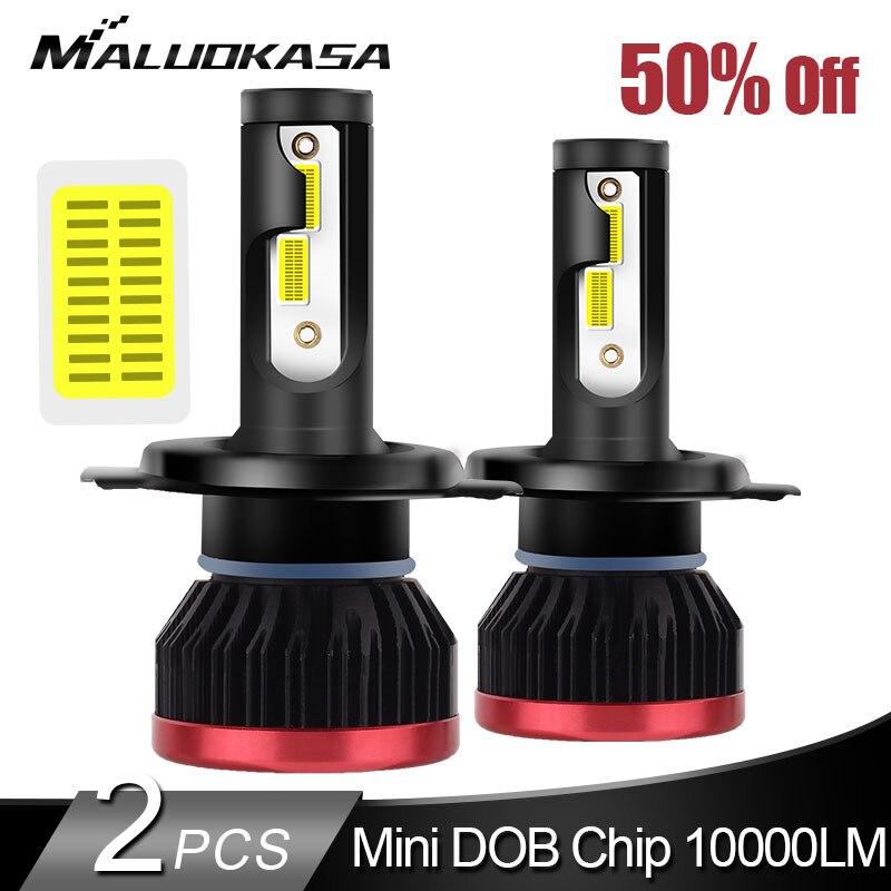 2 pièces LED H4 H7 phare LED 10000LM/PCS 50W Mini Taille H1 H3 HB3 HB4 H8 H11 LED Lumières De Voiture Auto Phare Antibrouillard 12v 24v