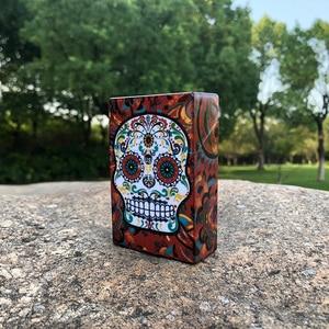Image 4 - HORNET Butterfly & Skull Plastic Tobacco Cigarette Case Pocket Size 95mm*60mm Cigarette Box Cover Smoking Cigarettes Holder