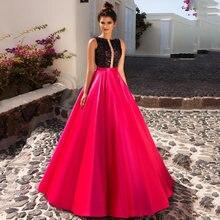 Восьмилое блестящее вечернее платье с блестками красное трапециевидной