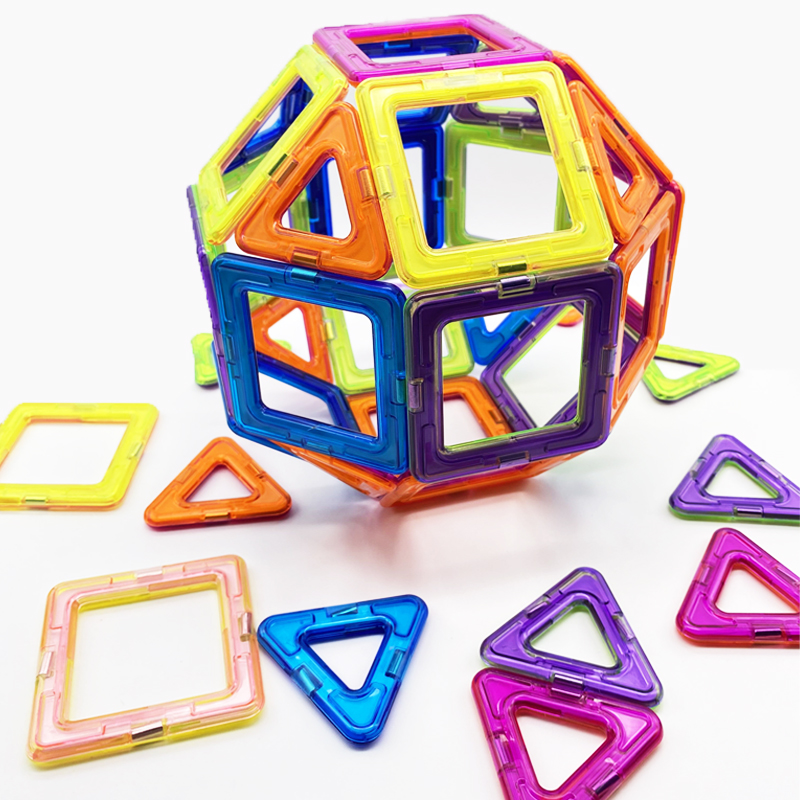 50pcs Big Magnetic Constructor Triangle Square Bricks Magnetic Building Blocks Designer Set Magnet Toys For Children Gift 2