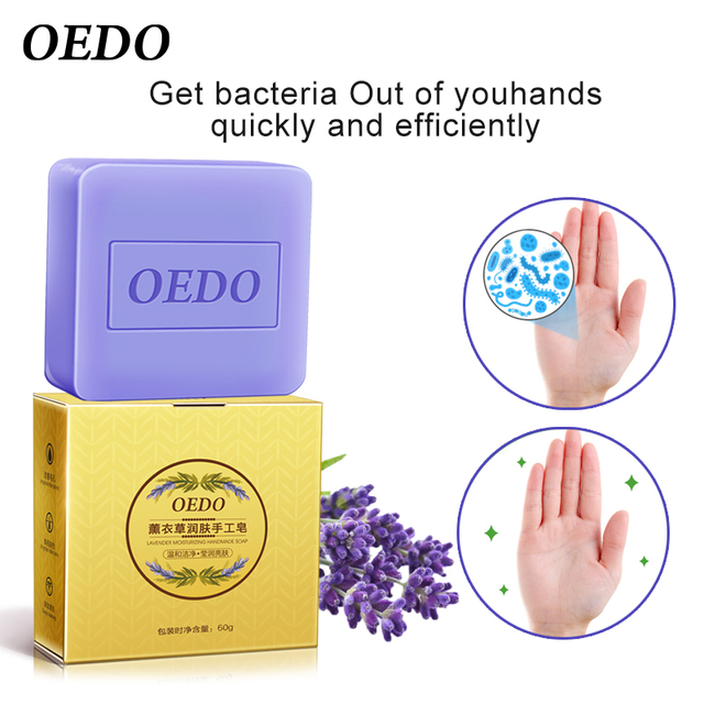99.9% Antibacterial Handmade Soap Portable Fast Antibacterial Prevent Germ Infection Keep Hands Clean Lavender Soap 2