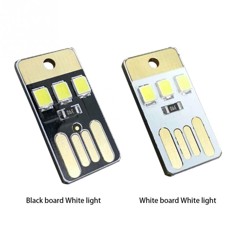 5 Pcs Portable Energy Saving Flashlight Mini Slim Mobile USB LED Small Lights For Outdoor Camping Night Walking Tent Lamp Light