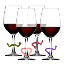 Tag-Signs Labels Marker Charms Drinking-Buddy Wine Glass Cup Identification Silicone