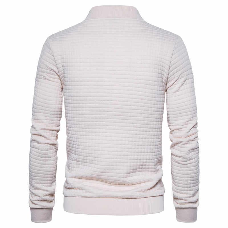 2020 nova primavera águia bordado bombardeiro jaqueta cardigan gola jaqueta masculina casual xadrez com zíper dos homens casacos e jaquetas