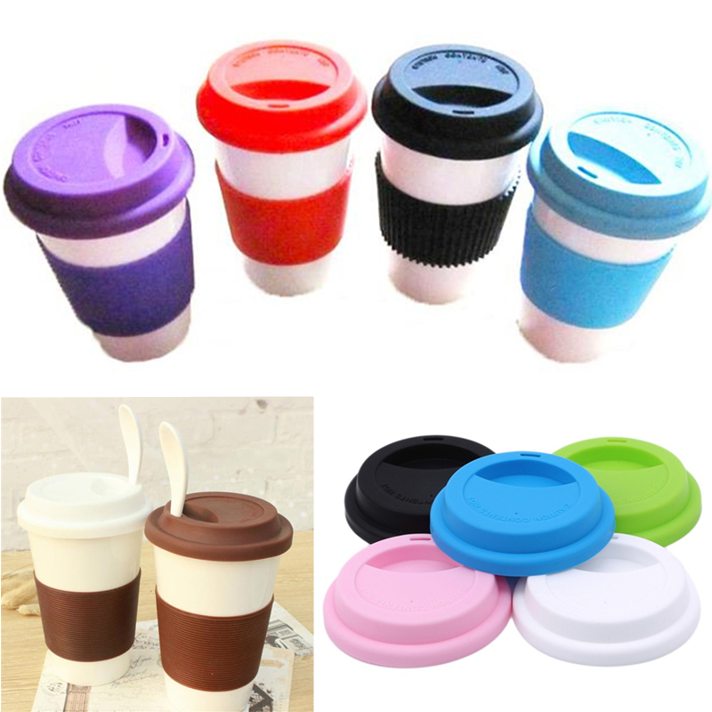 1PC Reusable Silicone Stretch Lids Food Fresh Cover Silicone Insulation Anti-Dust Cup Cover Tea Coffee Universal Sealing Lids