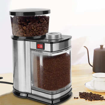 9 Gears Electric Coffee Grinder Cereals Herbs Nuts Beans Spices Grinding Machine Coffee Bean Mill EU Plug 220V 400w electric coffee grinder mini grains spices hebals cereals coffee dry food grinder mill grinding machine kitchen appliance