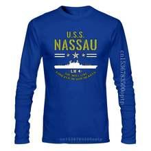 U.S.S Nassau American Usa Navy She Will Live Forever New Men Shirt Veteran 2019 Fashion O-Neck Hipster T Shirts 3D Print Tee