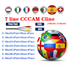 Europe Cccam Cline for 1 Year Spain DVB-S2 Germany Poland Portugal 7 Gtmedia V8 Nova Freesat Satellite Receiver