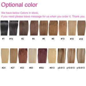 Image 5 - #27 Color Brazilian Human Hair Clip in Hair Bang Full Fringe Short Straight Hair Extension for women 6 8inch