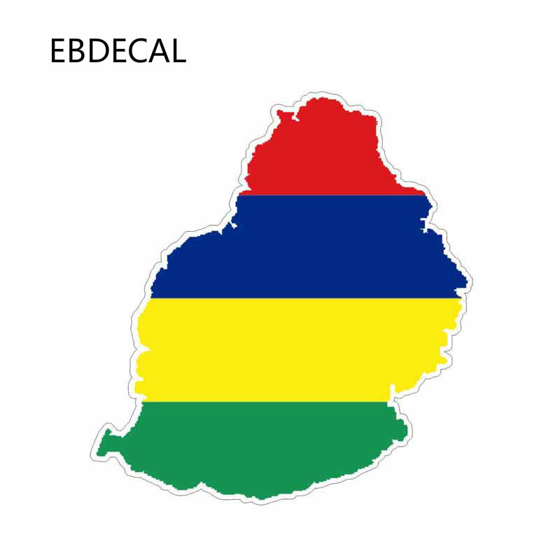 EBdecal  Mauritius Map  For Auto Car/Bumper/Window/Wall Decal Sticker Decals DIY Decor CT11736