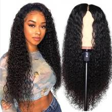 34 Inches Jerry Curly Lace Frontal Wig 250% 13x4 Lace Front Wig Indian Virgin Transparent