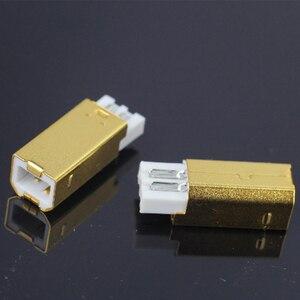 Image 5 - MPS HD 019 HiFi USB 2.0 אודיו מחבר תקעים טהור נחושת אודיו שקע מחבר 24K 5u זהב מצופה DAC USB 2.0 מחבר סוג B