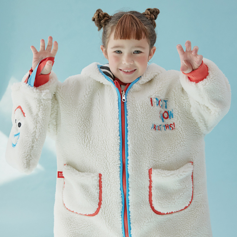 RJ Korea Brand 2021 New Winter Boys Coats Kids Jackets for Girls Cartoon Caca Fur Thick Warm Children Clothes Baby Outwear 2