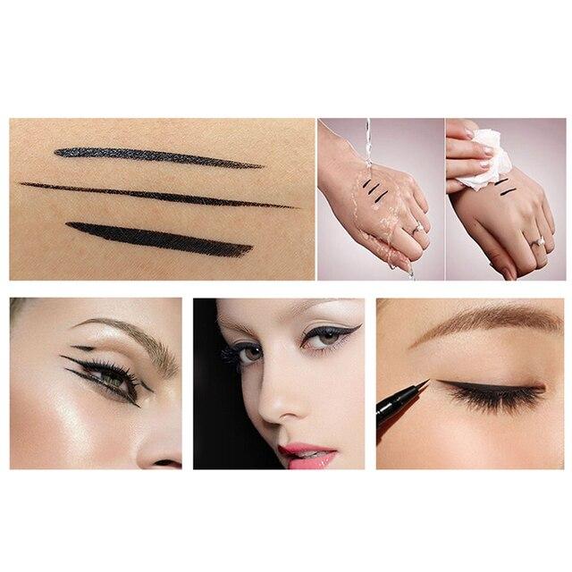 O.TWO.O Black Liquid Eyeliner Eye Make Up Super Waterproof Long Lasting Eye Liner Easy to Wear Eyes Makeup Cosmetics Tools 2
