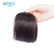 SEGO прямые чистые цвета тупые челки челка из человеческих волос на заколках челка волосы для наращивания не Реми волосы бразильские аккуратные челки 10 г