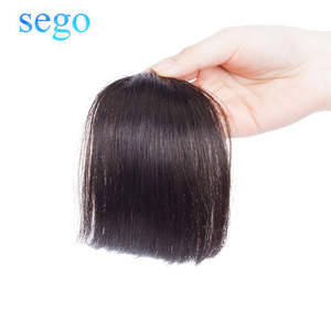 SEGO Fringe Hair-Extensions Blunt-Bangs Brazilian-Hair Straight 10g Pure-Color Non-Remy