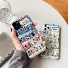ORYKSZ Cartoon Donald Duck Pattern Silicone Phone Case For