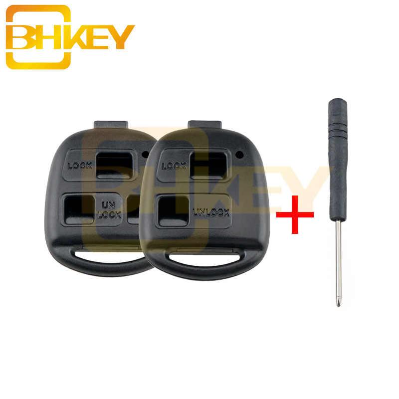 Bhkey 2/3 bt 원격 자동차 키 쉘 케이스 렉서스 rx300 es300 ls400 gx460 도요타 corolla 랜드 크루저 yaris camry rav4 케이스